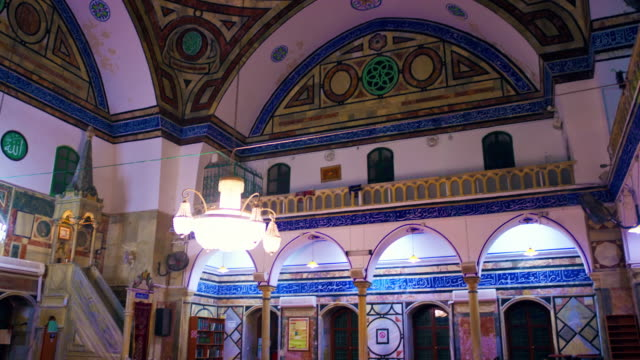 stock video footage of the inside of a mosque filmed in israel at 4k with red. - akko stock videos and b-roll footage