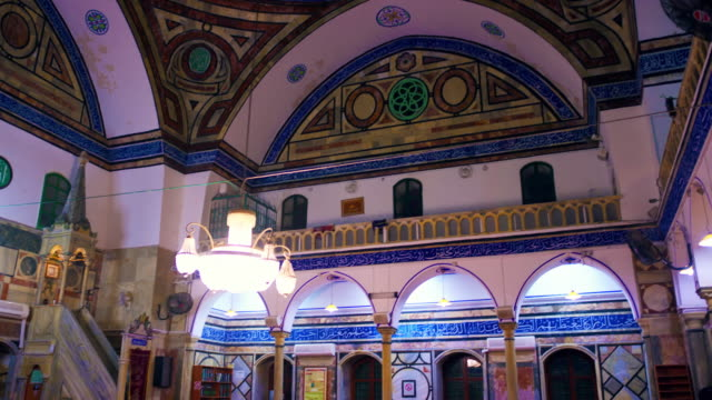 stock video footage of the interior of a mosque filmedin israel at 4k with red. - akko stock videos and b-roll footage