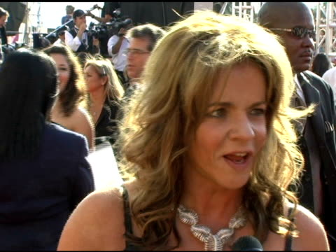 Stockard Channing on enjoying dressing up on the programs she enjoys and on 'The West Wing' at the 2005 Emmy Awards Interviews at the Shrine...