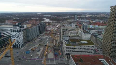 stockvideo's en b-roll-footage met stockholm aerial view - sweden