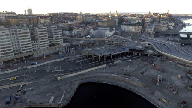 stockholm aerial view - rebuilding stock videos and b-roll footage