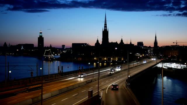 stockholm city vid skymning slowmotion - stockholm bildbanksvideor och videomaterial från bakom kulisserna
