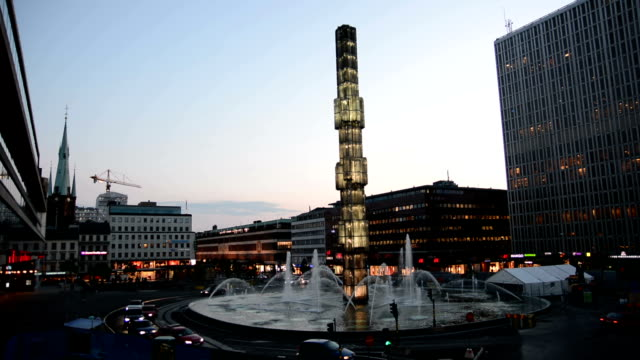 Stockholm City Center at Dusk