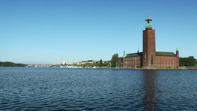 stockholm city hall - famous place stock videos & royalty-free footage