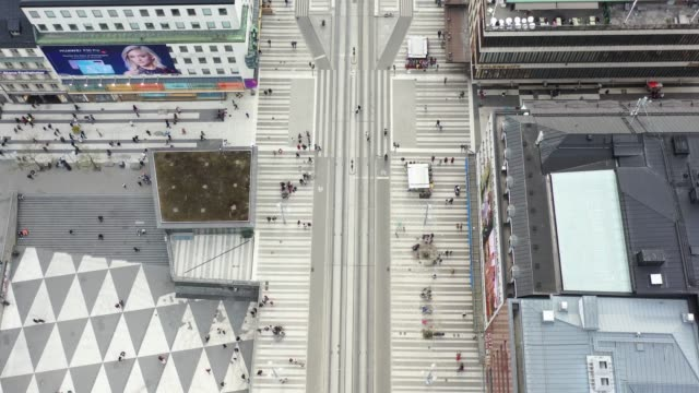 stockholm city seen from above, cityscape, sergels torg - geometric shape stock videos & royalty-free footage