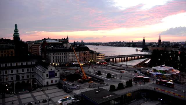 stockholm stadsbilden i skymningen - stockholm bildbanksvideor och videomaterial från bakom kulisserna