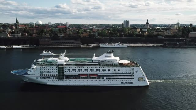stockholm drone over södermalm in 4k - stockholm stock videos & royalty-free footage
