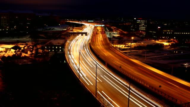 stockholm highway tidsfördröjning - stockholm bildbanksvideor och videomaterial från bakom kulisserna