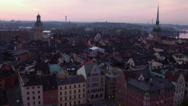 aerial: stockholm, old town - old town stock videos & royalty-free footage