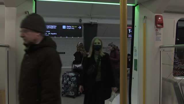 stockholm residents react to the new recommendations and restrictions announced last week by the government to fight the spread of the coronavirus - stockholm stock videos & royalty-free footage