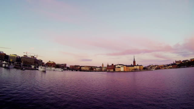Stockholm, Sweden. Panorama of the old town and church