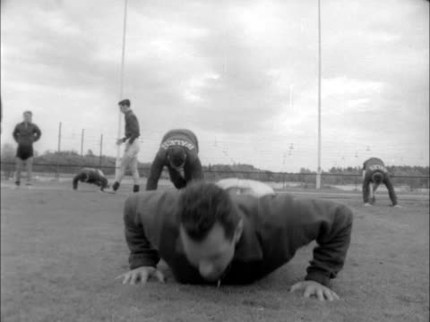 ms welsh team round manager on field ms children ms team walk around ground scu jimmy murray looks on scu mel charles doing pressups scu jack kelsey... - 1958 stock videos & royalty-free footage