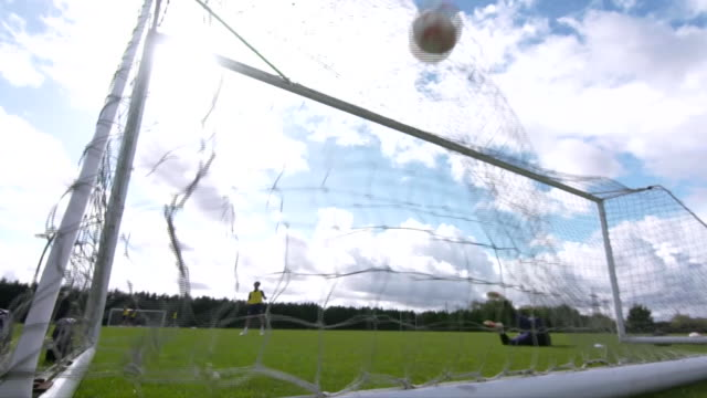 stockport county fc players in training - scoring stock videos & royalty-free footage
