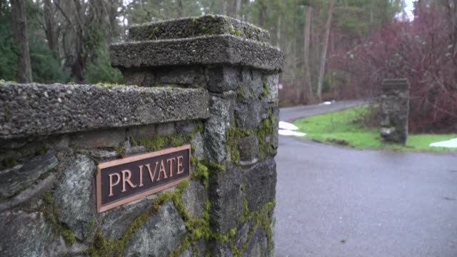 stockshots of deep cove neighborhood in north saanich on vancouver island in canada where britain's prince harry and his wife meghan and their eight... - image stock videos & royalty-free footage