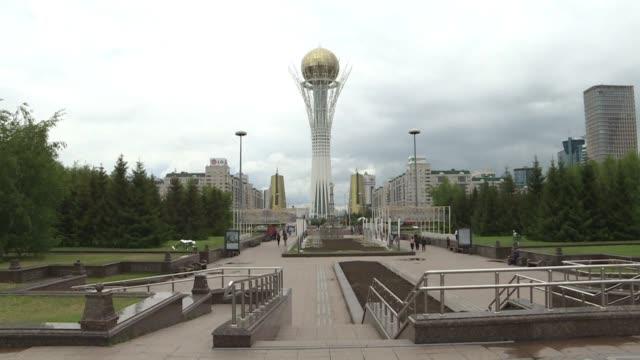 stockshots of kazakhstan's capital nursultan - nur sultan stock videos and b-roll footage