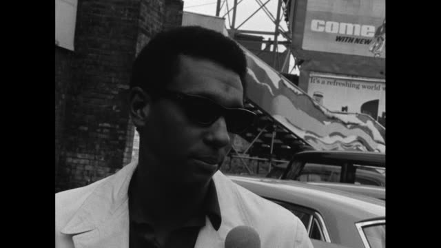 "stokely carmichael, leader of the black power movement, saying ""no, no. black people not gonna let white people slap 'em anymore""; 1967. - focus concept stock videos & royalty-free footage"