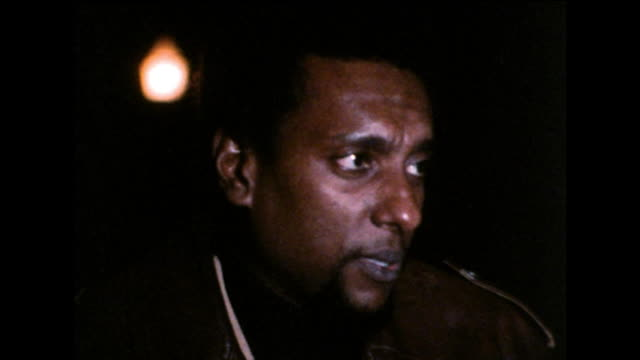 stokely carmichael on his wish to unify and unite africa and people of african descent around the owrld; 1971. - アメリカ黒人の歴史点の映像素材/bロール