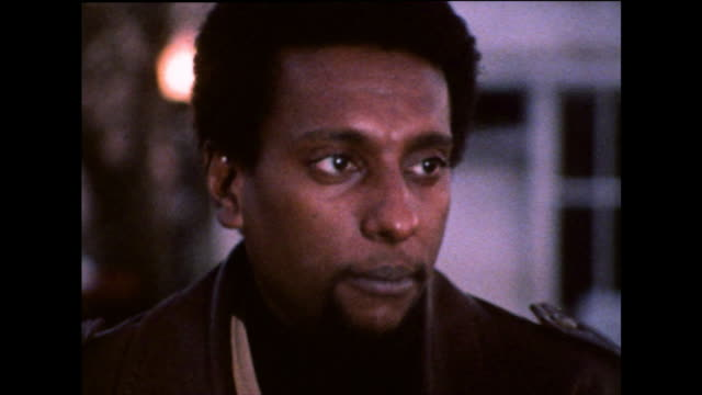 """stokely carmichael on thinking long term and for the future rather than focusing on basic """"bread and butter issues""""; 1971. - editorial bildbanksvideor och videomaterial från bakom kulisserna"""