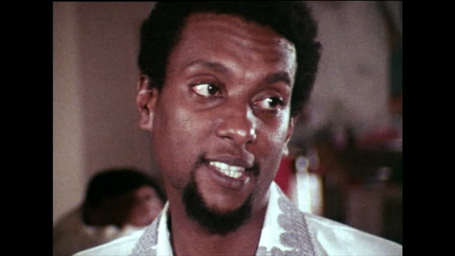 """stokely carmichael, standing with willie ricks, recalls the emergence of the black power movement during the """"march against fear"""" in mississippi in... - infamous stock videos & royalty-free footage"""