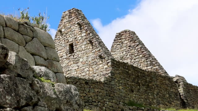 stone and megalith wall, machu picchu ruins, peru - ancient stock videos & royalty-free footage