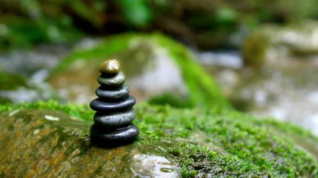 stone balance - chan buddhism stock videos & royalty-free footage