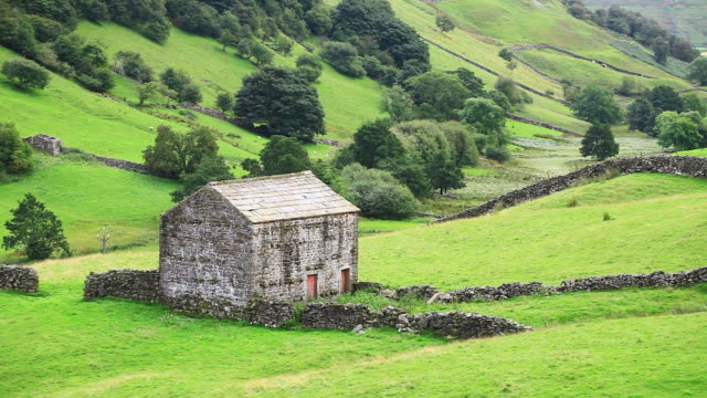 stone barns in swaledale. - 1954 stock videos & royalty-free footage