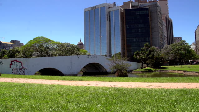 Stone Bridge in Porto Alegre City