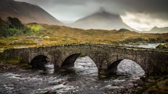 stone bridge in scotland - scottish highlands stock videos & royalty-free footage