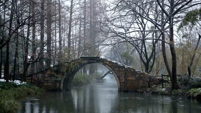 A Stone bridge on West Lake in Maojiabu Village,Hangzhou,China