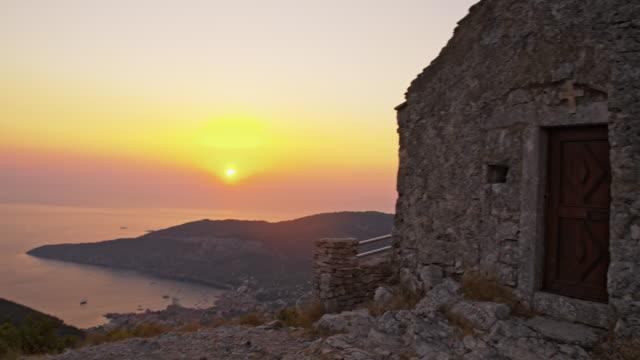 SLO, MO, Stone Kapelle auf der Insel Vis