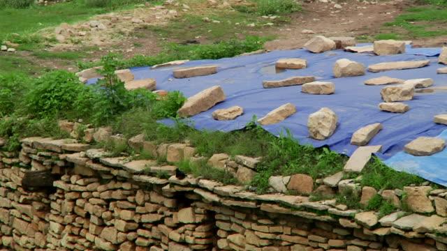 stone construction detail - アフリカの角点の映像素材/bロール