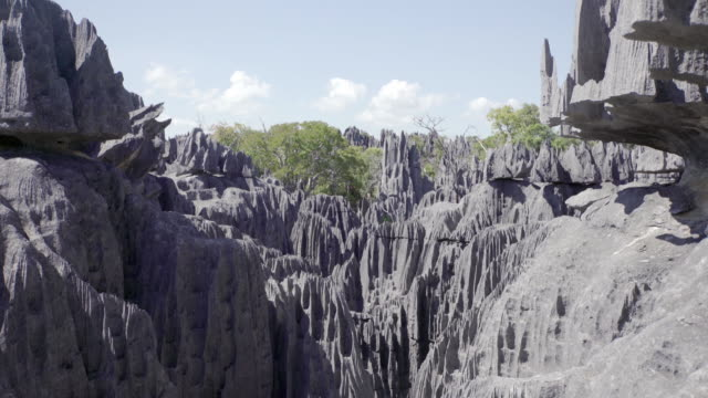 stone forest in madagascar - madagascar stock videos & royalty-free footage