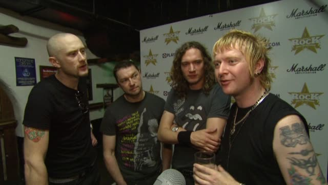stockvideo's en b-roll-footage met stone gods on being nominated, on being 'classic rock', on what bad rock is, on meeting alice cooper, on their album at the classic rock roll of... - alice cooper
