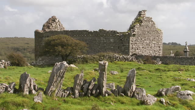 a stone house in ireland - stone house stock videos & royalty-free footage