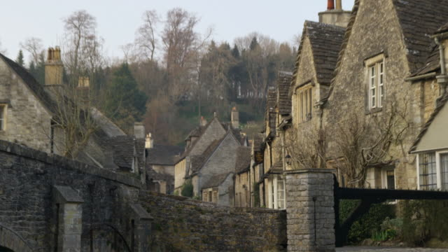 MS TD Stone houses and bridge, Castle Combe, United Kingdom
