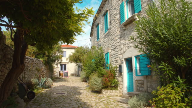 ws stone houses in the mediterranean village - shutter stock videos & royalty-free footage
