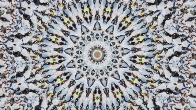 ZO / Stone Mandala, Kaleidoscope effect of pebbles