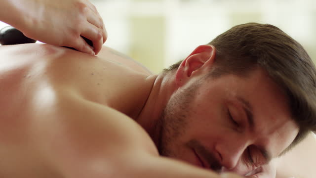 stone massage - lastone therapy stock videos and b-roll footage