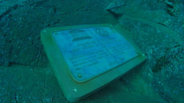 Stone monument undersea
