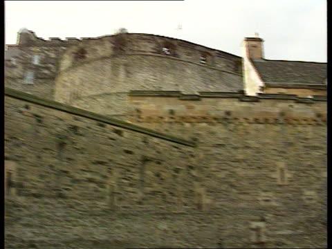 stone of destiny to rest in edinburgh castle itn edinburgh edinburgh castle la ms castle pan lr to entrance tourists - edinburgh castle stock videos & royalty-free footage
