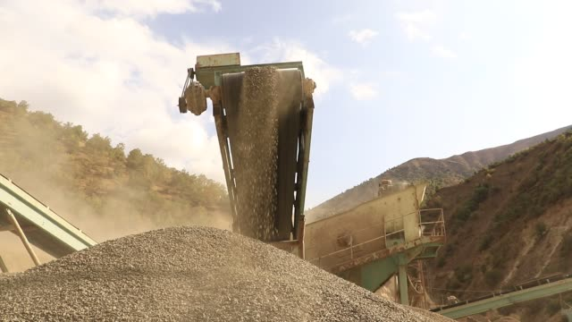 stone pit - grinder industrial equipment stock videos & royalty-free footage