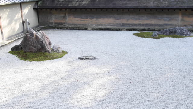 stone rooftop on kyoto temple, panning shot - temple building stock videos & royalty-free footage