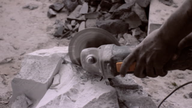 stockvideo's en b-roll-footage met stone shaper 1 - provincial reconstruction team