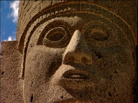 stone statue giants of tula mexico - ancient stock videos & royalty-free footage