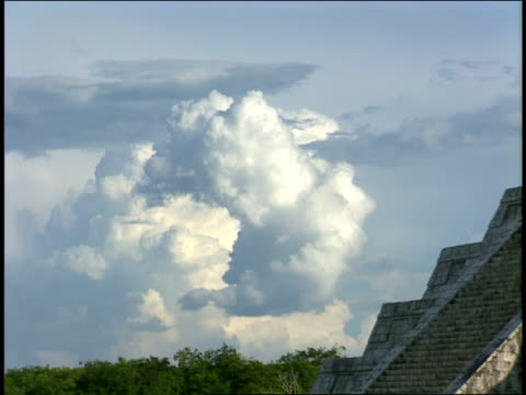 stone steps lead up a mayan pyramid. - puuc region stock videos and b-roll footage