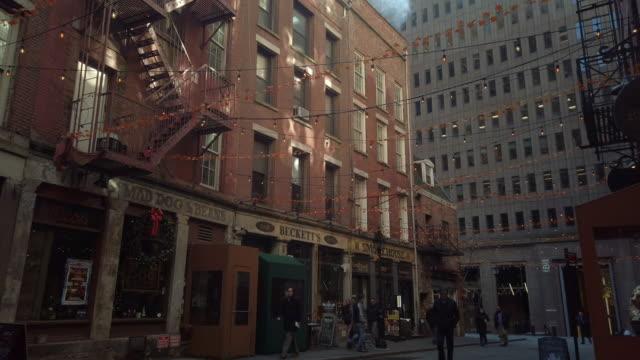 stone street in manhattan's financial district - fashion week stock videos & royalty-free footage
