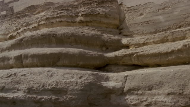 cu pan ws stone wall around fortress / egypt - 1992 stock videos & royalty-free footage