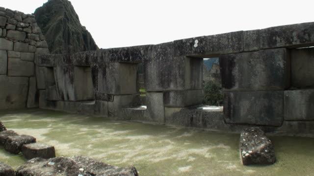 WS Stone wall at Temple of three windows / Machu Picchu, Peru