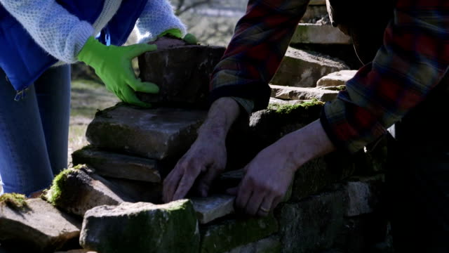 stone wall repair - provincial reconstruction team stock videos & royalty-free footage