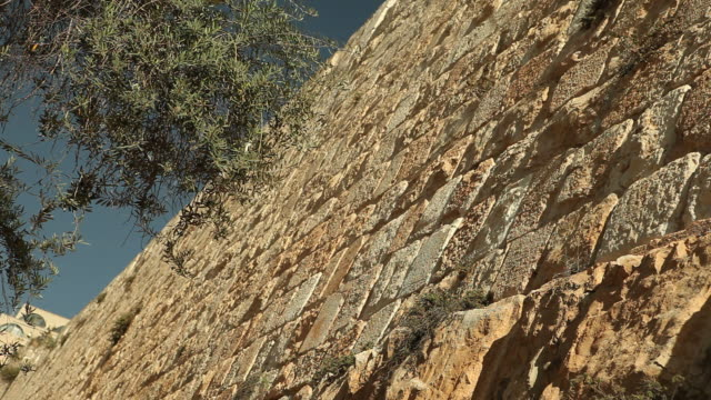 stone walls of jerusalem in israel - jerusalem old city stock videos and b-roll footage